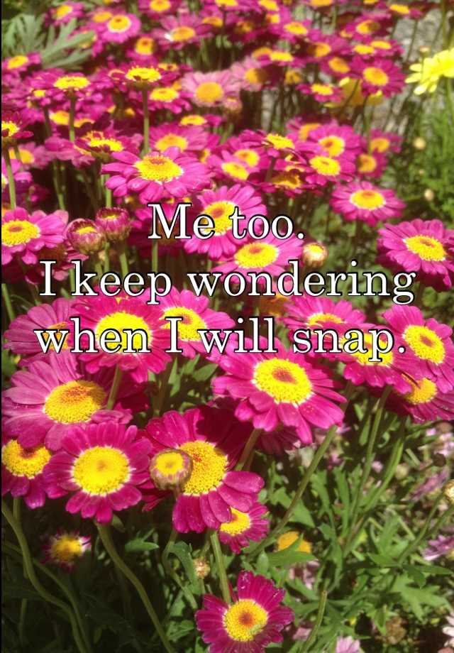 Me too. 