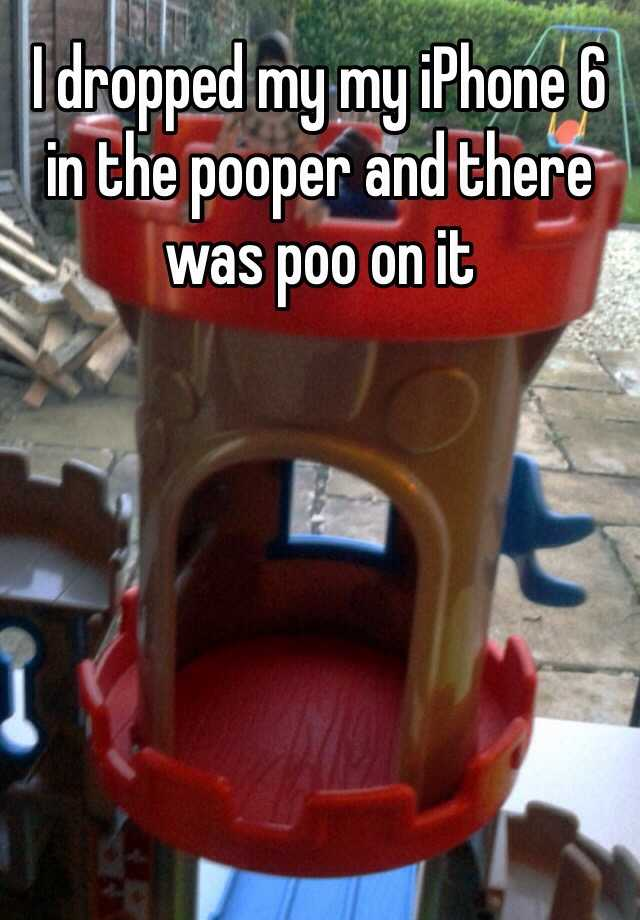 I dropped my my iPhone 6 in the pooper and there was poo on it