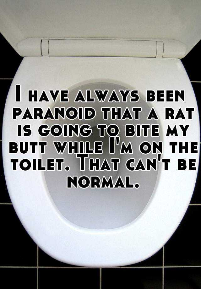 I have always been paranoid that a rat is going to bite my butt while I'm on the toilet. That can't be normal.