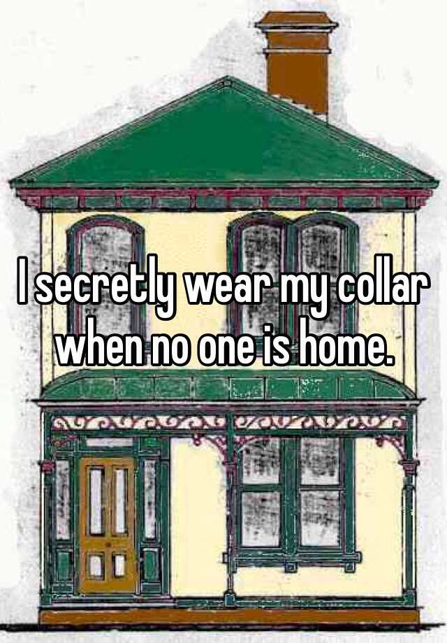 I secretly wear my collar when no one is home.