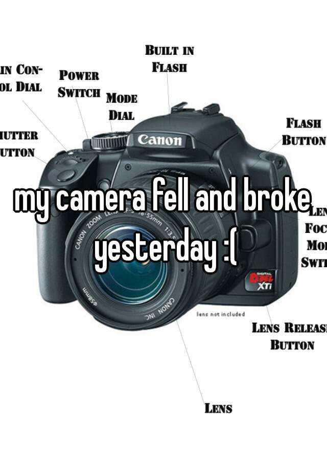 my camera fell and broke yesterday :(